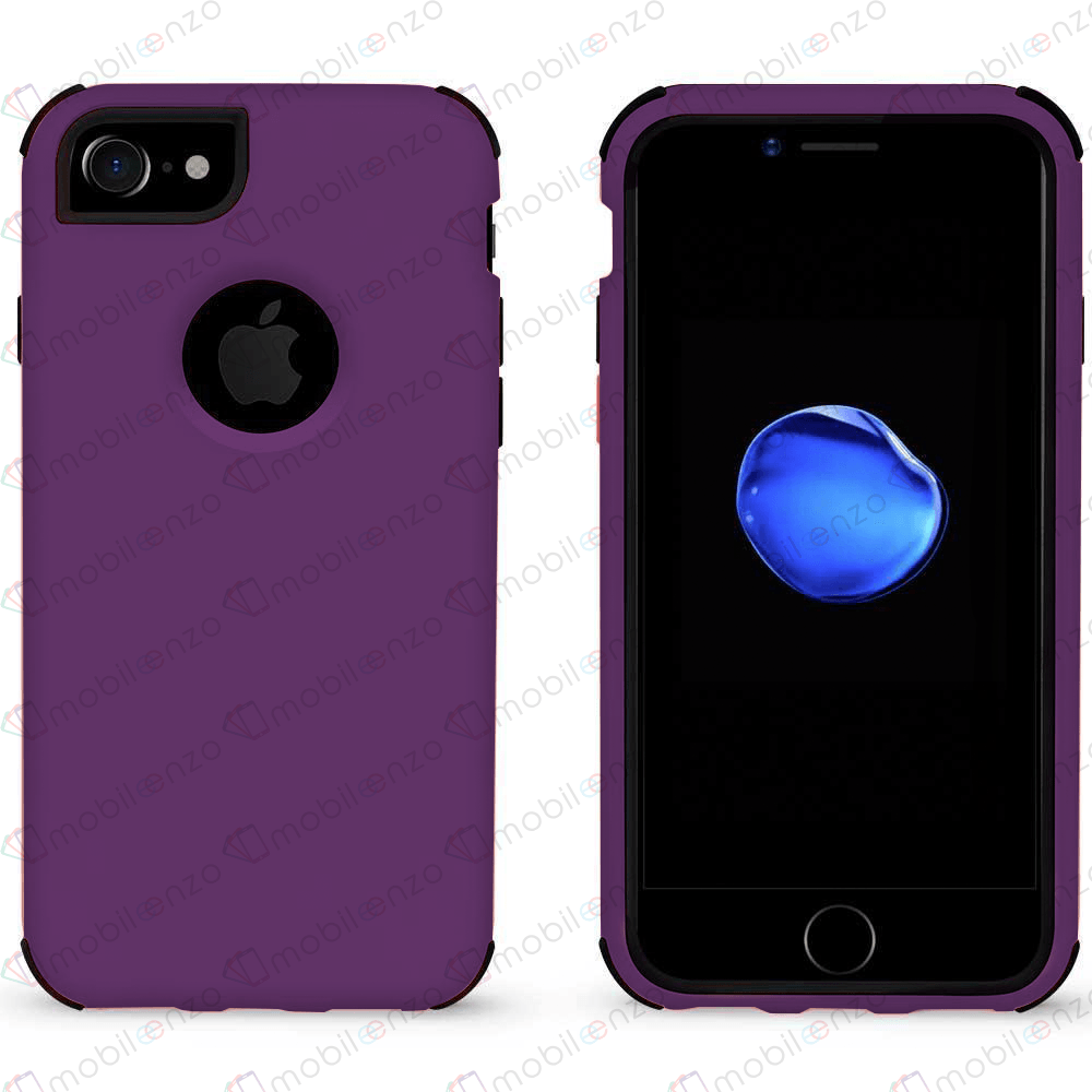 Bumper Hybrid Combo Case for iPhone 7/8 Plus - Purple & Black