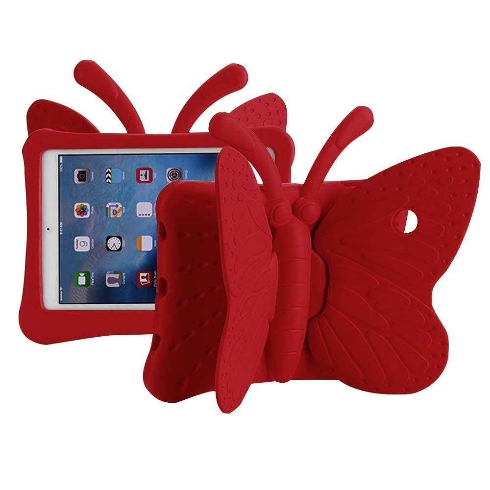 Butterfly Case  for iPad Air 1/Air 2/ 9.7/iPad 5 (2017)/iPad 6(2018) - Red