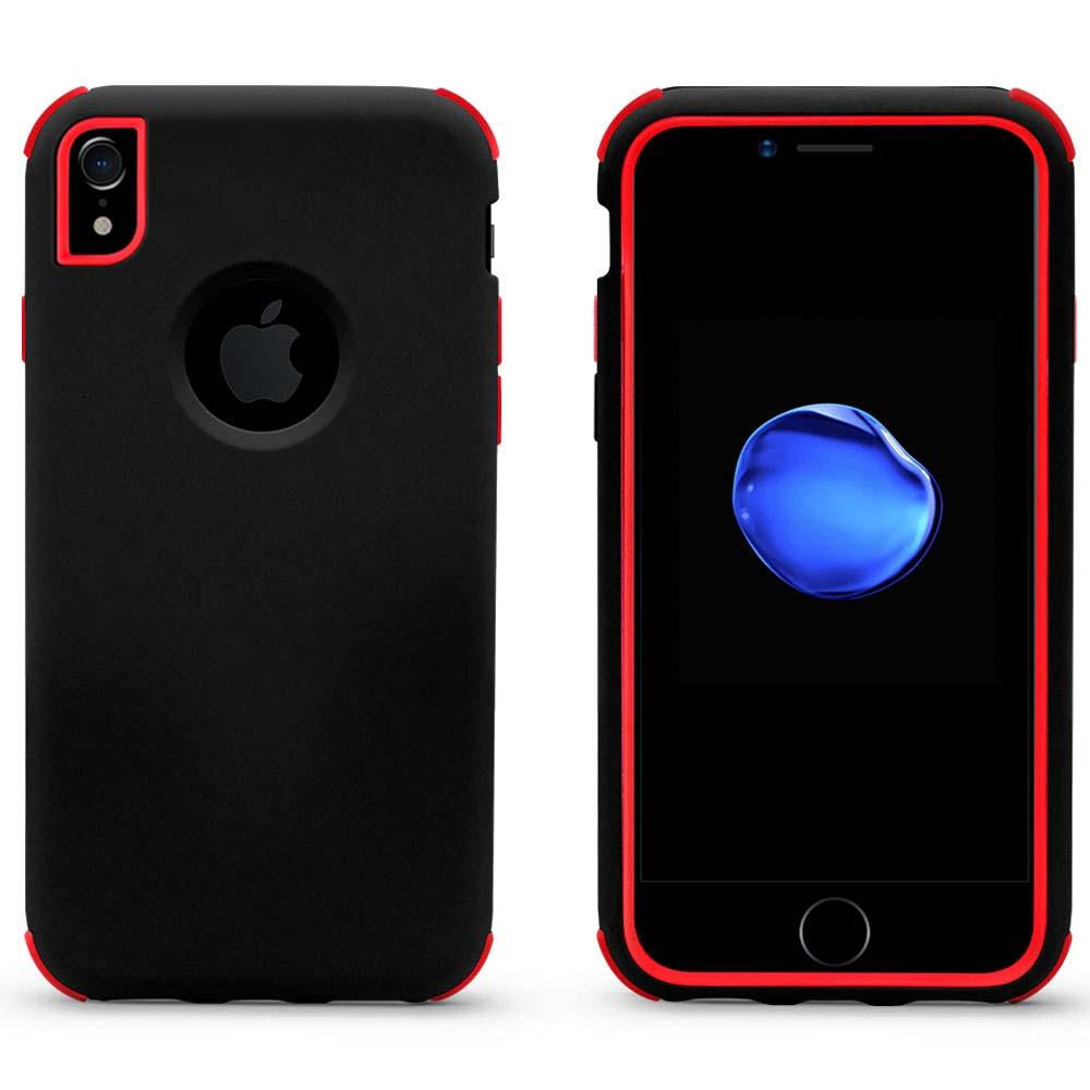 Bumper Hybrid Combo Layer Protective Case  for iPhone Xs Max - Black & Red