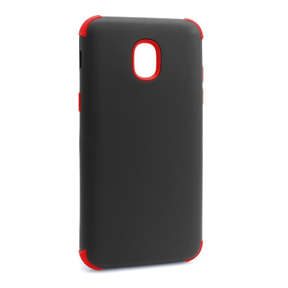 Bumper Hybrid Combo Layer Protective Case  for Samsung J3 2018 - Black & Red