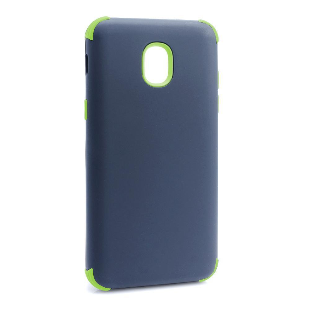 Bumper Hybrid Combo Layer Protective Case  for Samsung J3 2018 - Dark Blue & Green