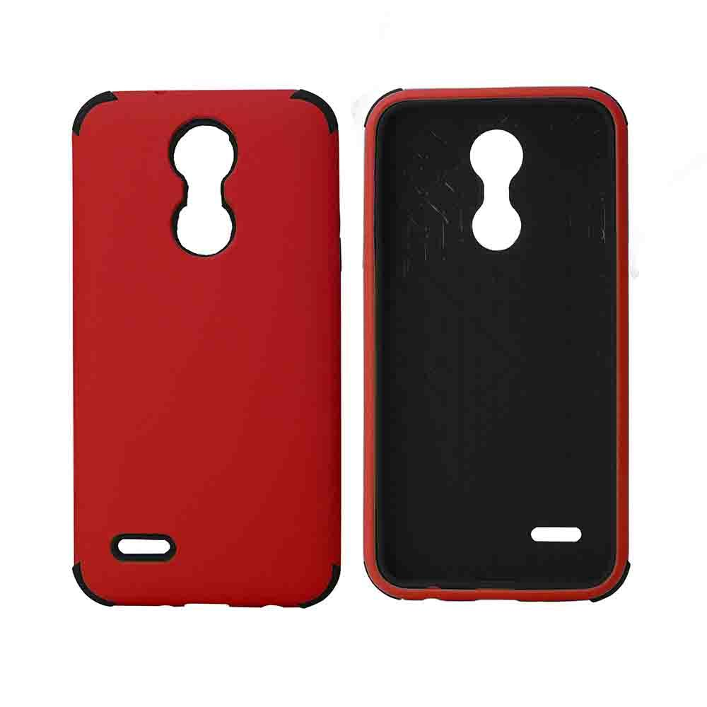 Bumper Hybrid Combo Layer Protective Case  for LG Aristo 2 (K8-2018) - Red & Black
