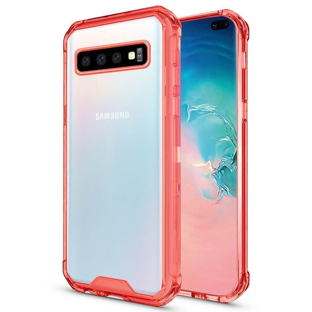 Acrylic Transparent Case  for Galaxy S10 E - Red