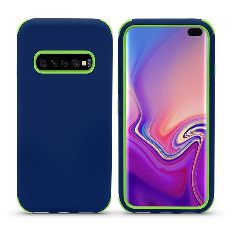 Bumper Hybrid Combo Layer Protective Case  for Galaxy S9 Plus - Dark Blue & Green