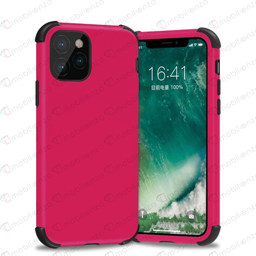 Bumper Hybrid Combo Case for iPhone 12 (6.1) - Hotpink & Black