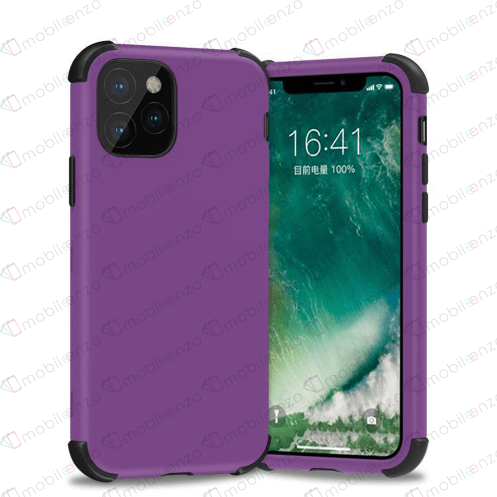 Bumper Hybrid Combo Case for iPhone 12 (6.1) - Purple & Black