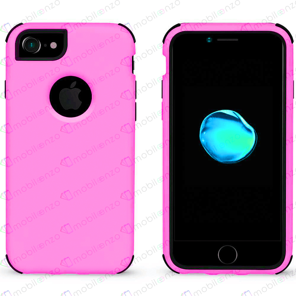 Bumper Hybrid Combo Case for iPhone 7/8 - Pink & Black
