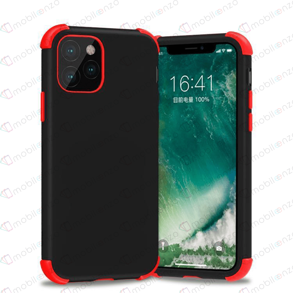 Bumper Hybrid Combo Case for iPhone 12 Mini (5.4) - Black & Red Edge