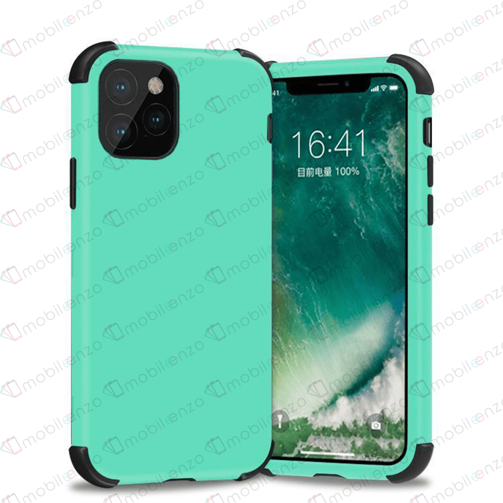 Bumper Hybrid Combo Case for iPhone 12 Pro Max (6.7) - Mint & Black
