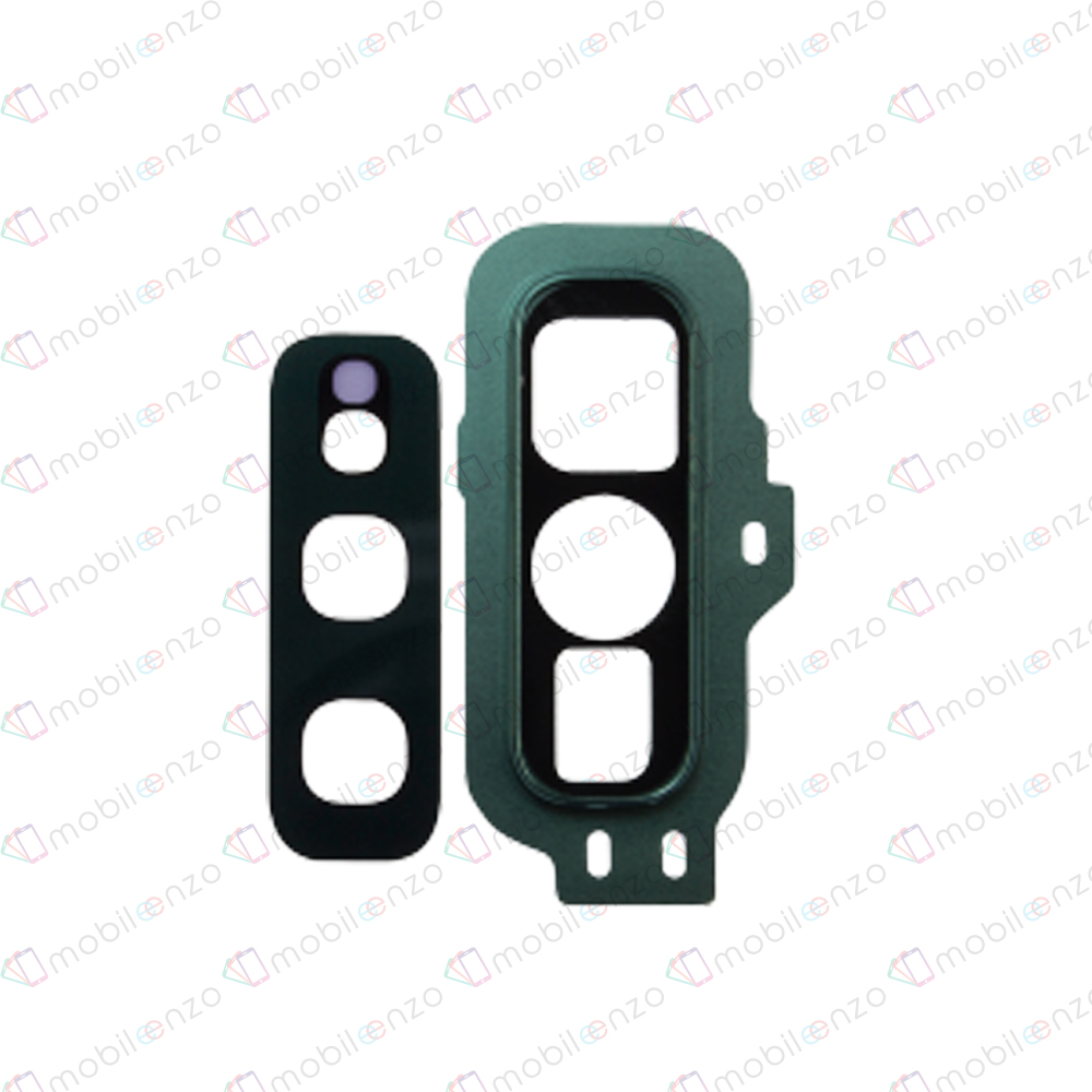 Back Camera Lens for Galaxy S10E  (BLACK/GREEN) (10 Pcs)