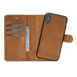 [CS-IX-BWMM-BW] BNT Wallet  Magnet Magic  for iPhone X/Xs - Brown