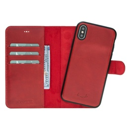 [CS-IX-BWMM-RD] BNT Wallet  Magnet Magic  for iPhone X/Xs - Red