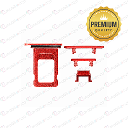 [SP-IXR-ST-PM-RD] Sim Card Tray and Hard Buttons Set for iPhone XR (Premium Quality) - Red