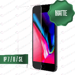 [TG-I7-MT-BK] Matte Tempered Glass for iPhone 7/8 - Black