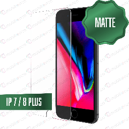 [TG-I7P-MT-BK] Matte Tempered Glass for iPhone 7/8 Plus - Black
