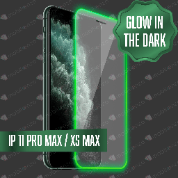 [TG-IXSM-GWD] Tempered Glass for iPhone Xs Max/ 11 Pro Max - Glow in the Dark