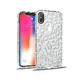 [CS-IXSM-3CC-GCLR] 3D Crystal Case  for iPhone Xs Max - Glitter Clear