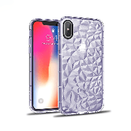 [CS-IXSM-3CC-PU] 3D Crystal Case  for iPhone Xs Max - Purple