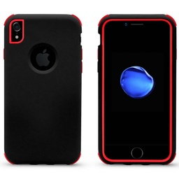 [CS-IXSM-BHCL-BKRD] Bumper Hybrid Combo Layer Protective Case  for iPhone Xs Max - Black & Red