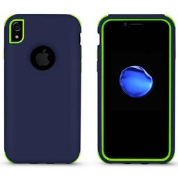 [CS-IXSM-BHCL-DBLGR] Bumper Hybrid Combo Layer Protective Case  for iPhone Xs Max - Dark Blue & Green