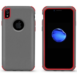 [CS-IXSM-BHCL-GYRD] Bumper Hybrid Combo Layer Protective Case  for iPhone Xs Max - Grey & Red