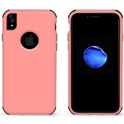 [CS-IXSM-BHCL-LPNBK] Bumper Hybrid Combo Layer Protective Case  for iPhone Xs Max - Light Pink & Black