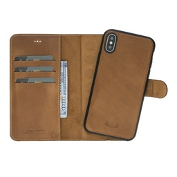 [CS-IXSM-BWMM-BW] BNT Wallet  Magnet Magic  for iPhone Xs Max - Brown