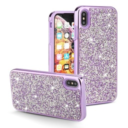 [CS-IXSM-COD-PU] Color Diamond Hard Shell Case  for iPhone Xs Max - Purple