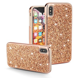 [CS-IXSM-COD-ROGO] Color Diamond Hard Shell Case  for iPhone Xs Max - Rose Gold