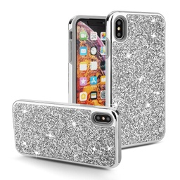 [CS-IXSM-COD-SI] Color Diamond Hard Shell Case  for iPhone Xs Max - Silver