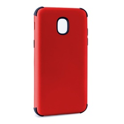 [CS-J3-2018-BHCL-RDBK] Bumper Hybrid Combo Layer Protective Case  for Samsung J3 2018 - Red & Black
