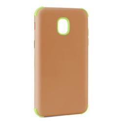 [CS-J3-2018-BHCL-ROGOGR] Bumper Hybrid Combo Layer Protective Case  for Samsung J3 2018 - Rose Gold & Green