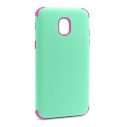 [CS-J3-2018-BHCL-TEHPN] Bumper Hybrid Combo Layer Protective Case  for Samsung J3 2018 - Teal & Hot Pink