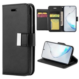 [CS-N10-FLW-BK] Flip Leather Wallet Case  for Galaxy Note 10 - Black
