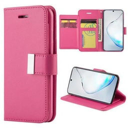 [CS-N10-FLW-HPN] Flip Leather Wallet Case  for Galaxy Note 10 - Hot Pink
