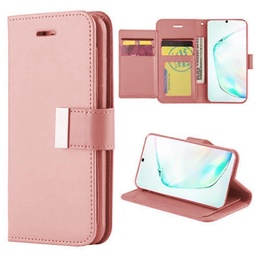 [CS-N10-FLW-ROGO] Flip Leather Wallet Case  for Galaxy Note 10 - Rose Gold
