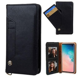 [CS-N10-LDC-BK] Ludic Leather Wallet Case  for Galaxy Note 10 - Black