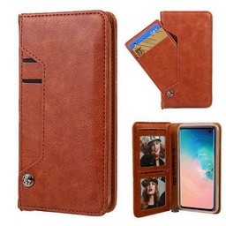 [CS-N10-LDC-BW] Ludic Leather Wallet Case  for Galaxy Note 10 - Brown