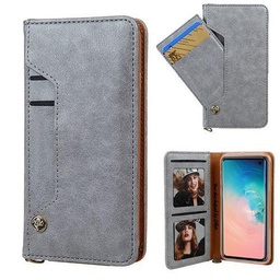 [CS-N10-LDC-GY] Ludic Leather Wallet Case  for Galaxy Note 10 - Grey
