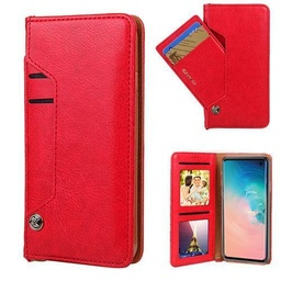 [CS-N10-LDC-RD] Ludic Leather Wallet Case  for Galaxy Note 10 - Red