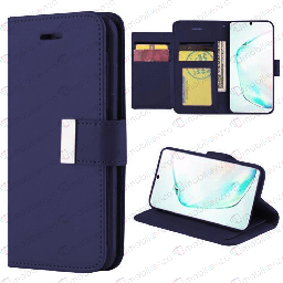 [CS-N20-FLW-DBL] Flip Leather Wallet Case for Note 20 - Dark Blue