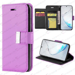 [CS-N20-FLW-PU] Flip Leather Wallet Case for Note 20 - Purple