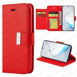[CS-N20-FLW-RD] Flip Leather Wallet Case for Note 20 - Red