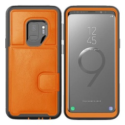 [CS-N9-DLC-OR] Dual Leather Card Case  for Galaxy Note 9 - Orange