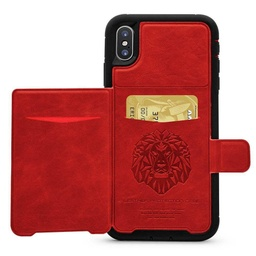 [CS-N9-DLC-RD] Dual Leather Card Case  for Galaxy Note 9 - Red