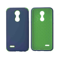 [CS-ART2-BHCL-DBLGR] Bumper Hybrid Combo Layer Protective Case  for LG Aristo 2 (K8-2018) - Dark Blue & Green