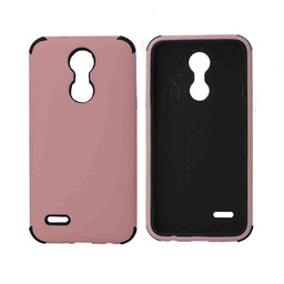 [CS-ART2-BHCL-LPNBK] Bumper Hybrid Combo Layer Protective Case  for LG Aristo 2 (K8-2018) - Light Pink & Black