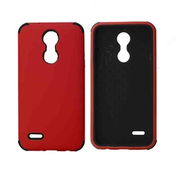 [CS-ART2-BHCL-RDBK] Bumper Hybrid Combo Layer Protective Case  for LG Aristo 2 (K8-2018) - Red & Black