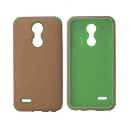 [CS-ART2-BHCL-ROGOGR] Bumper Hybrid Combo Layer Protective Case  for LG Aristo 2 (K8-2018) - Rose Gold & Green