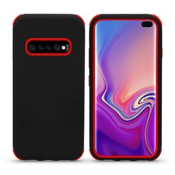 [CS-S10P-BHCL-BKRD] Bumper Hybrid Combo Layer Protective Case  for Galaxy S10 Plus - Black & Red